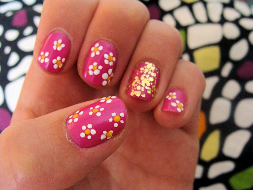 Nice Manicure With The Dotting Tools Papillon Day Spa